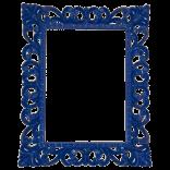 Specchiera 688 color Blu lucido